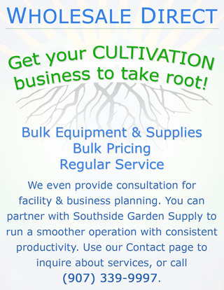 Hydroponics Alaska, Wholesale bulk pricing on hydorponics cultivation equipment, growing supplies and cultivation service